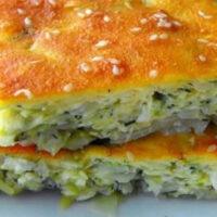 Быстрый пирог с капустой на кефире: порубил, залил — готово!
