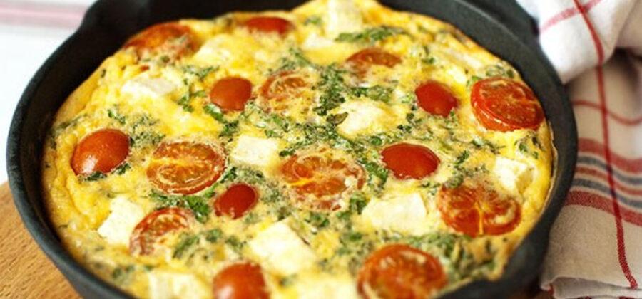 Фриттата с помидорами: очень простой рецепт