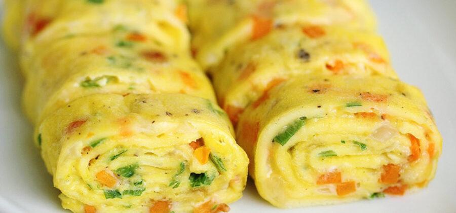 Омлет по-корейски: самое то к завтраку!