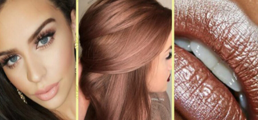 Новый хит в маникюре, макияже и окрашивании — розовое золото!
